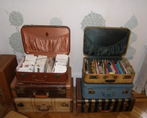 Open Suitcases