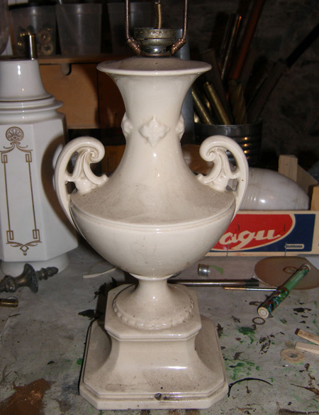 Refurbishing An Old Lamp Mary Olive Design