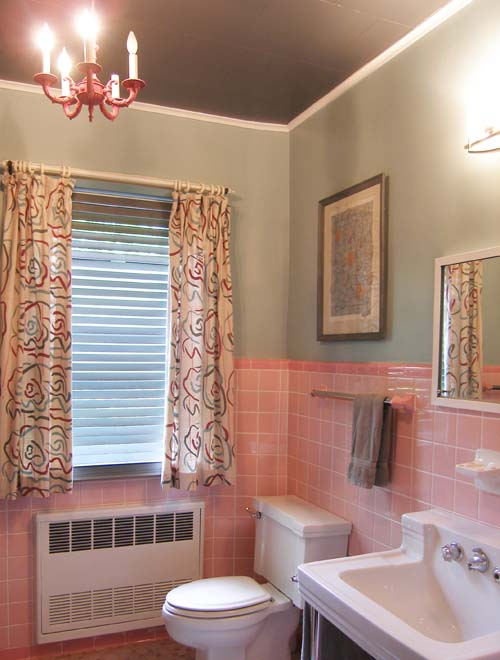 My pink bathroom update mary olive design for Updating bathroom ideas